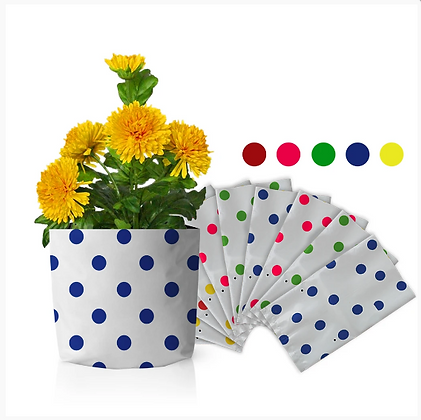 Set of 20 premium colourful Dotted Grow bags(20*20*35 cms)