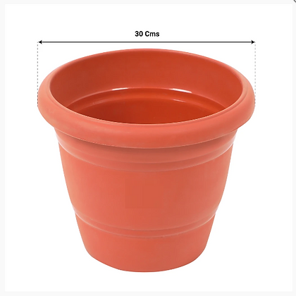UV Treated Plastic Round Pots - 12 Inches