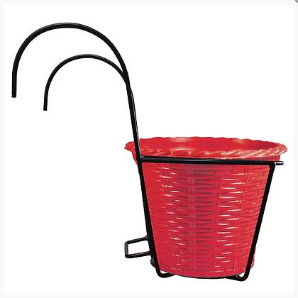 Basket Hanger Set With Plastic Planter