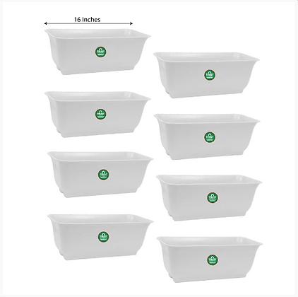 Window Planters for Home Decorations (White) - 16 inches