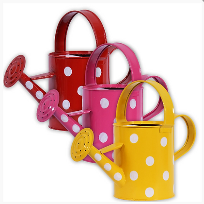 Set of 3 Designer Watering Can Pink,Yellow,Red (2 Ltr Capacity)