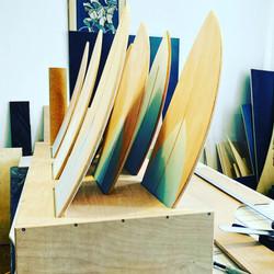 Fishboards im Verkaufsständer