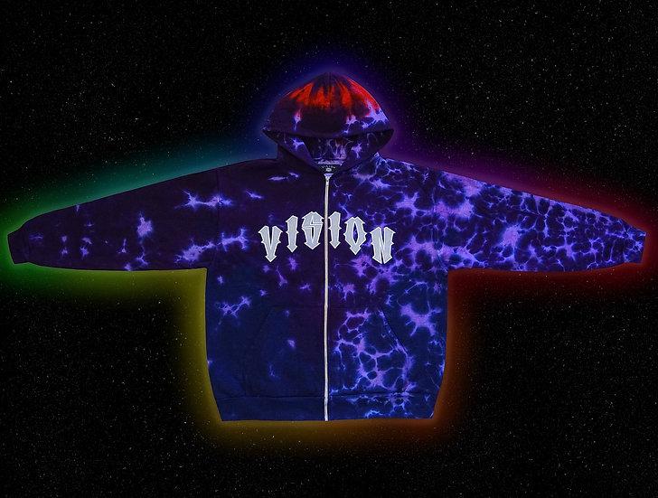 """""""Crown Chakra"""" Custom-Dyed Zip Hoodie"""
