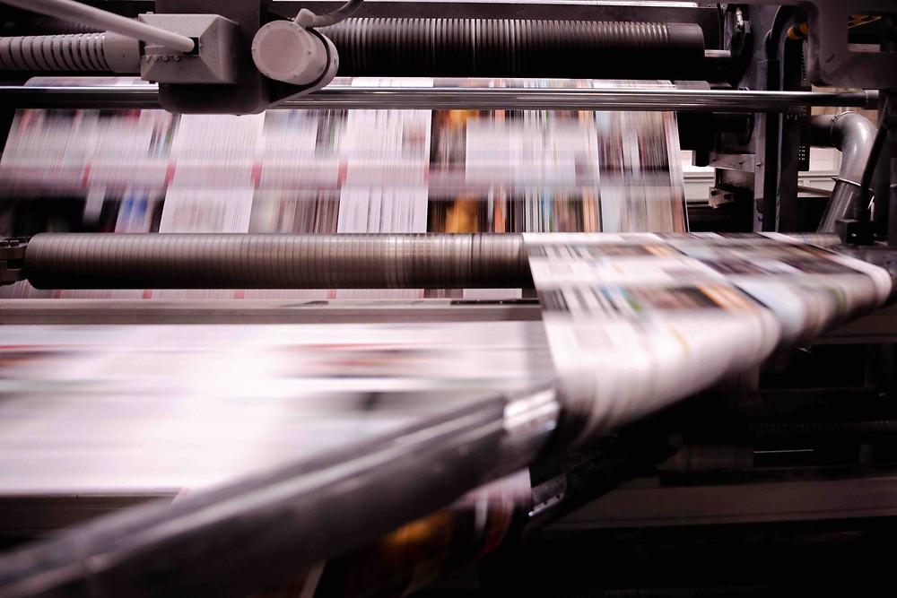 Rotative imprimeur news print
