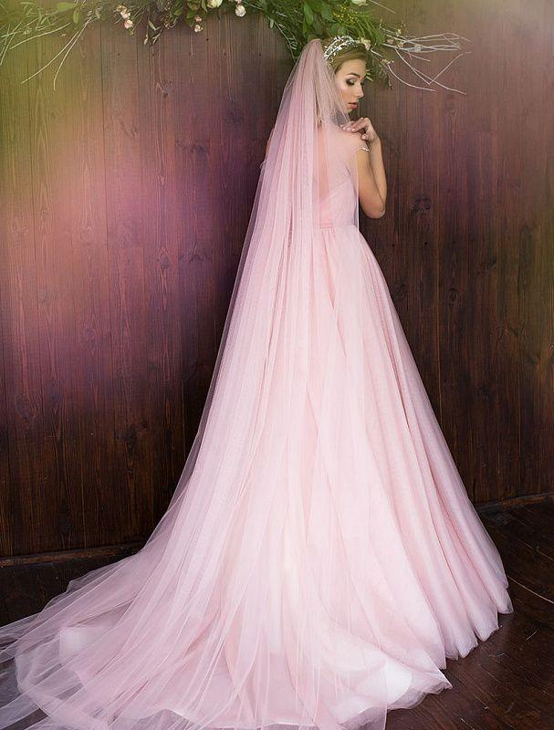 Фата розовая