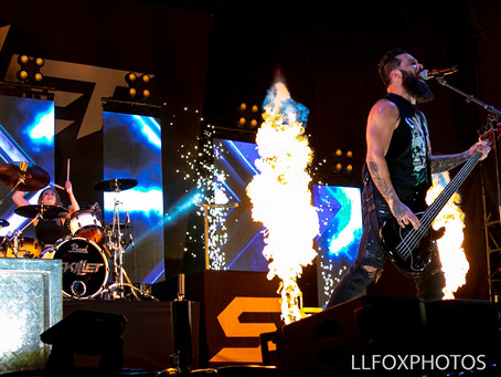 Skillet Cooks Up Heavy Christian Rock at Farm Bureau Insurance Lawn at White River Park, Indianapoli