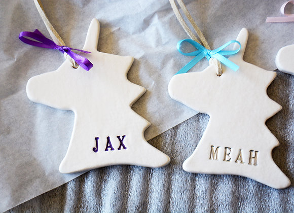 Unicorn Ornament - Unicorn Gift - Newborn Baby Gift - Baby Shower Gift