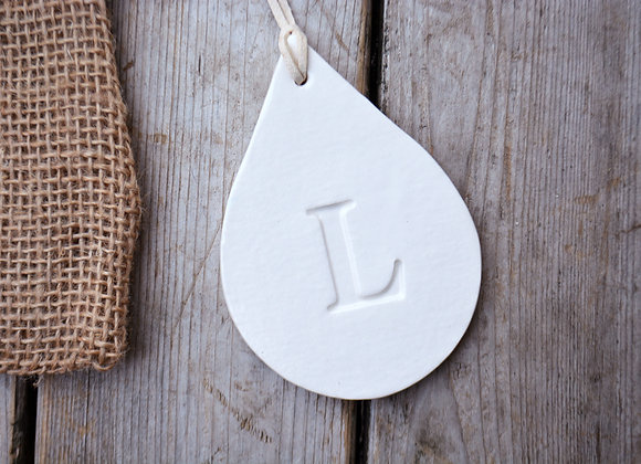 Handmade Sympathy Ornaments - Angel Heart Teardrop or Large Round