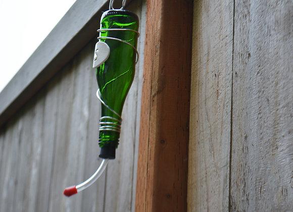 Glass Bottle Hummingbird Feeder - Personalized Gift