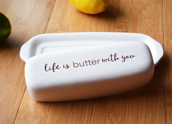 Custom Butter Dish with Lid - Unique Wedding Gift or Housewarming Gift