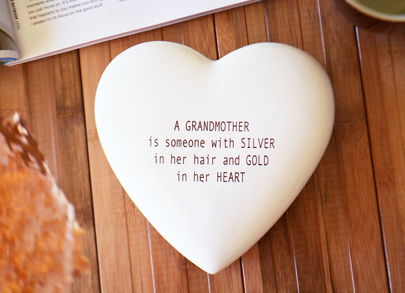 Grandmother Mother's Day Gift - Large Heart Keepsake Box with Custom Text