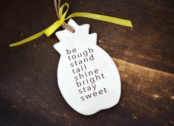 Pineapple Ornament - Pineapple Friendship Gift - Encouragement Gift
