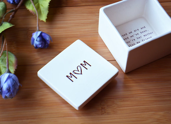 Mother of The Groom Wedding Keepsake Box - Unique Mother In Law Gift