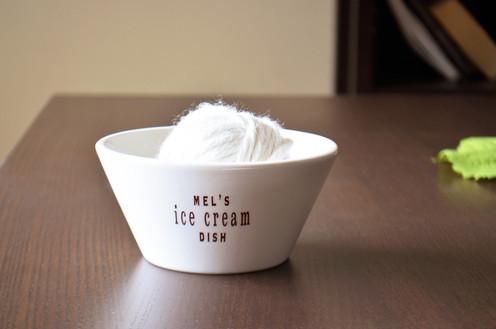 Personalized Ice Cream Dish Or Dessert Bowl Ice Cream Lover Dish