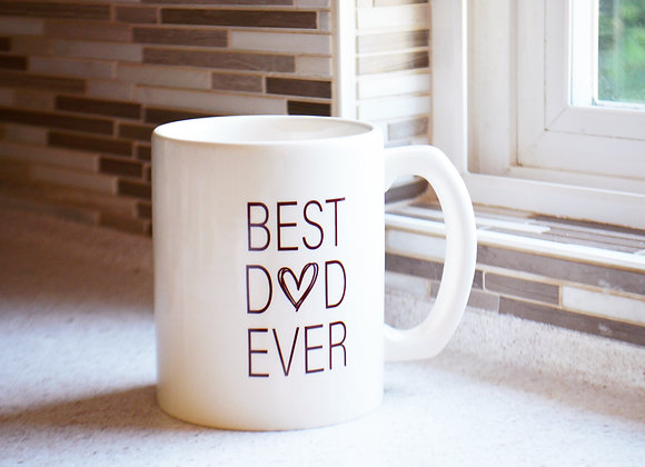 Best Dad Ever Coffee Mug - Dad Father Grandpa Grandfather Gift - Jumbo Mug