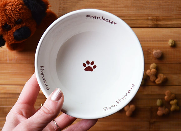 Personalized Pet Dish with Nicknames - Footed Bowl