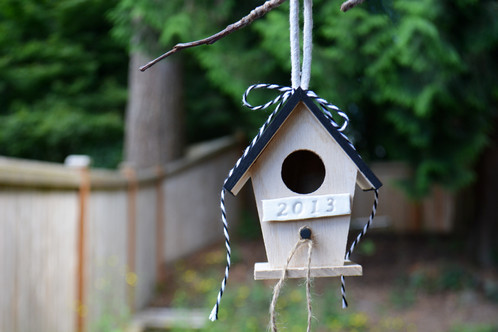 This personalized bird house can be a gift for a wedding, anniversary, birthday, special friend or just because for someone that loves birds and gardening.
