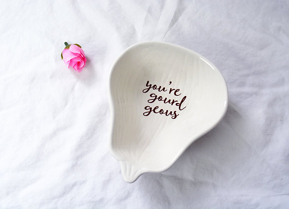 You're Gourdgeous Friendship Gourd Dish - Fall Wedding Bridesmaid Gift