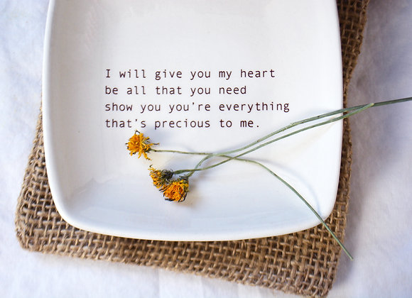 Personalized Friendship Gift with Song Lyrics in Typewriter Text