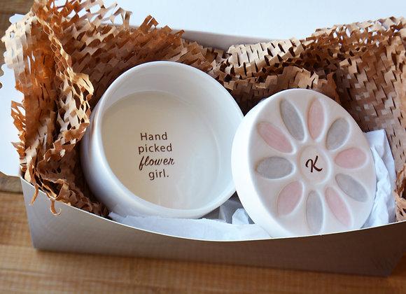 Personalized Flower Girl Gift - Flower Petal Box - Hand Picked Flower Girl