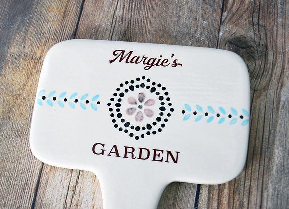 Personalized Garden Stake - Hand Painted - Gardening Gift