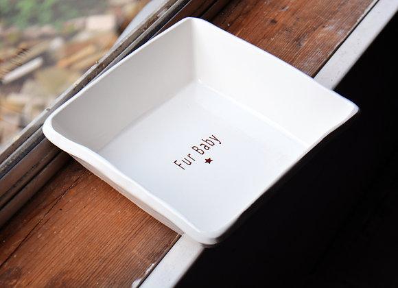 Ceramic Dog Dish or Dog Bowl - Fur Baby