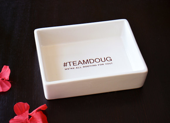 Cancer Survivor Gift for Him or Her - Friendship Support Gift - Catchall Dish