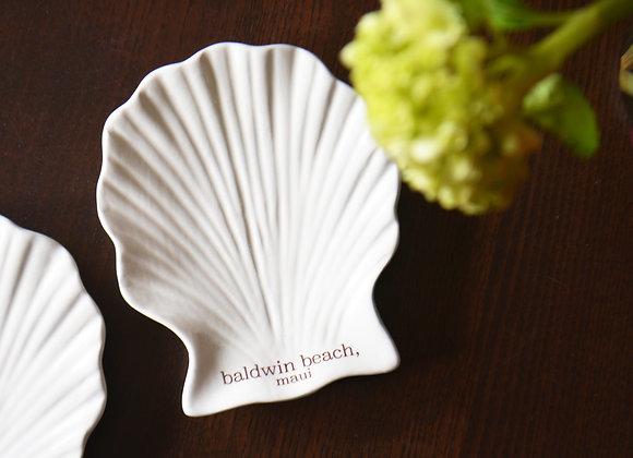 Sea Shell Ring Dish or Soap Dish - Custom Memory Dish - Beach Home Decor