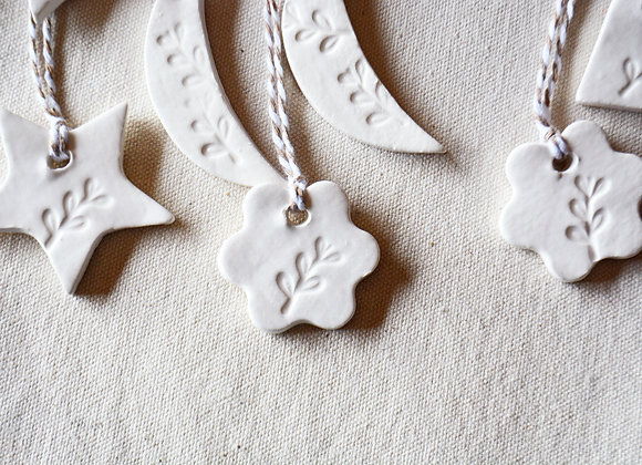 Christmas Gift Tag - Star Moon Flower or Heart