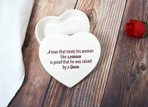 Mother In Law Mother of The Groom Heart Box - Wedding Gift - Wedding Box