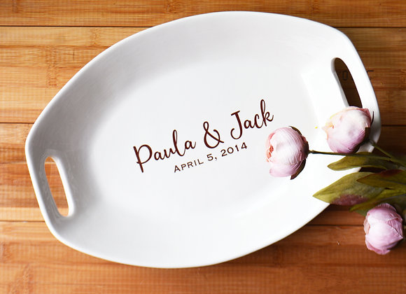 Large Personalized Wedding Platter - Custom Platter with Names