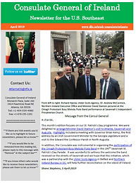 Consulate of Ireland Newsletter  - April 2019