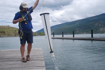 James sampling for invasive mussels
