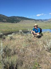 Roanan surveying at White Lake