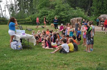 Heather at Mabel Lake kids talk