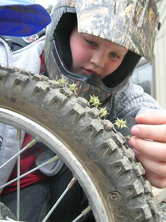 puncturevine in dirt bike tire_Mar 09_LS
