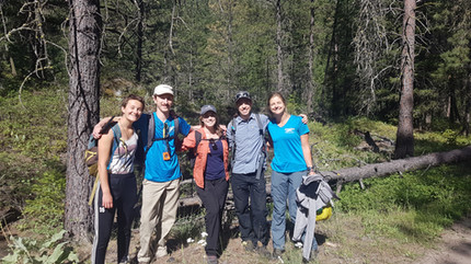 OASISS staff at Mahoney Lake Ecological Reserve