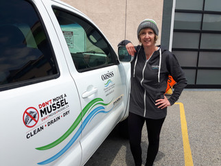 Lisa with new truck and oasiss swag