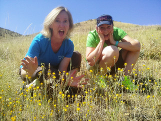 Lisa and Jess in starthistle patch