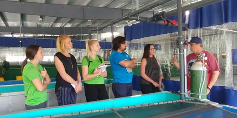 Training at ONA Fish Hatchery