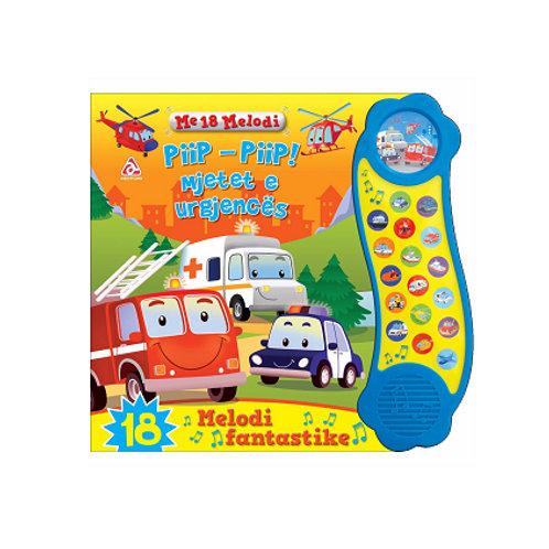 Piip-piip mjetet e urgjencës - Libra me tinguj dhe prekje (0-3 vjeç)