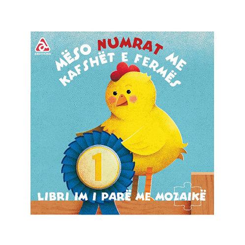 Mëso numrat me kafshët e fermës-Libri im i parë me Mozaikë (1-3 vjeç)
