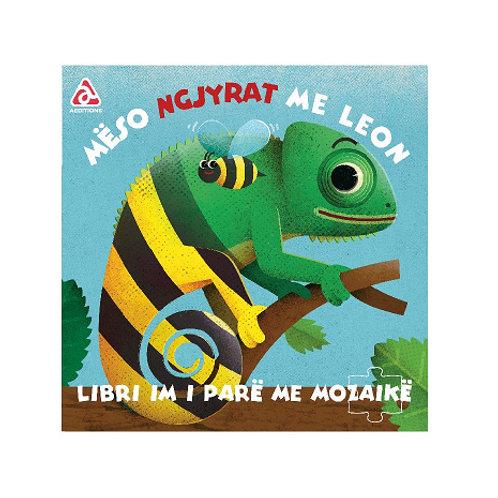 Mëso ngjyrat me Leon -Libri im i parë me Mozaikë (1-3 vjeç)