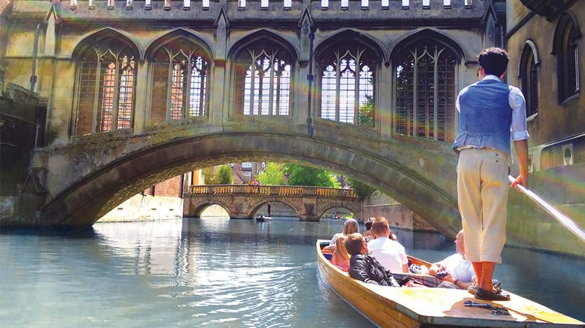 travel blog punting in cambridge river cam