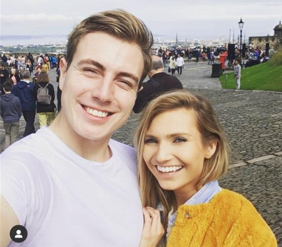 travel nurse and lifestyle blogger kirsten conrad with boyfriend tomas mccabe in edinburgh