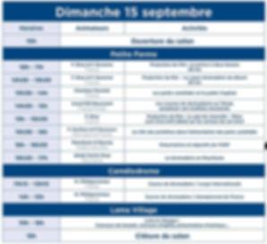 programme DIMANCHE  15 SALON DES DROMADAIRES DE SEPTEMBRE  CHAMEAU DROMADAIRE PARIS JANVRY