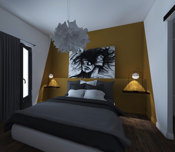 CHAMBRE #agencement #moutarde