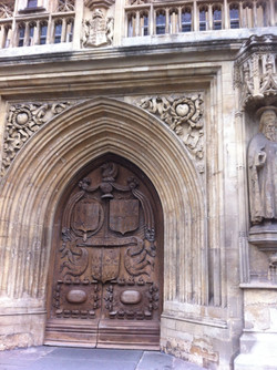 The front doors of Bath Abbey, UK