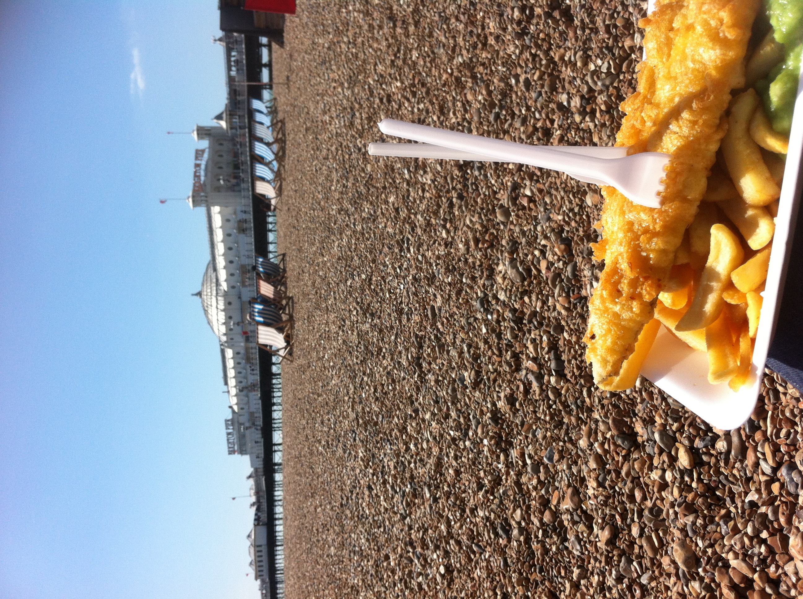 Fish & chips by the sea