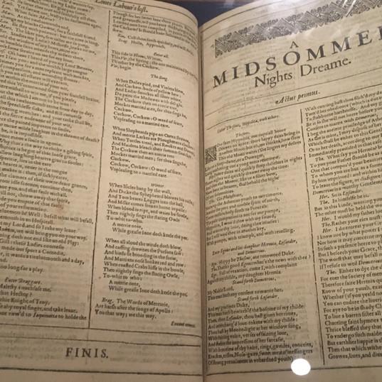 An original Shakespeare First Folio